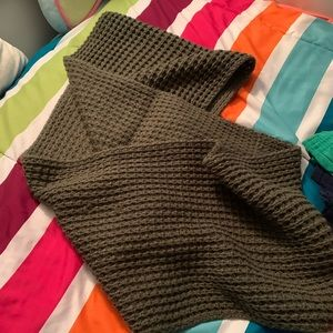 Accessories - army olive green, wrap infinity knit scarf